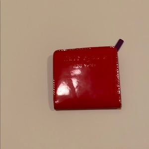 Kate Spade red bill fold wallet!